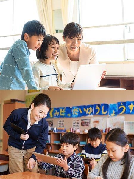 ICTサポート ◎小中学校でのタブレット・PCを用いた授業のサポートイメージ1