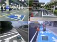 路面標示の塗装工(道路に文字や区画線を描きます)2