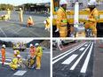 道路の塗装工★未経験歓迎★月給25万円以上★定着率95%以上/「止まれ」などの文字や線を描く仕事です2