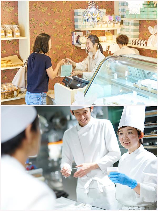パティスリーの店舗スタッフ(ケーキ作りから販売まで担当します)★月9日休みイメージ1