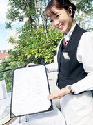 結婚式場・ホテル内のレストランスタッフ│10名の積極採用!業界未経験歓迎!上質なサービスを学べます。1