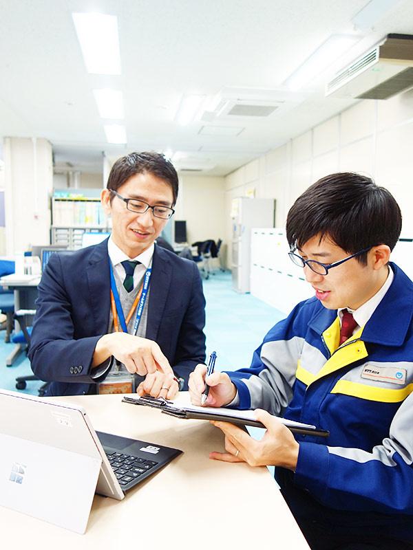 セールスエンジニア│NTT西日本のグループ会社!技術スキルが身につく研修あり!文系出身者、歓迎!イメージ1